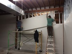 Sheetrock going up on the west wall