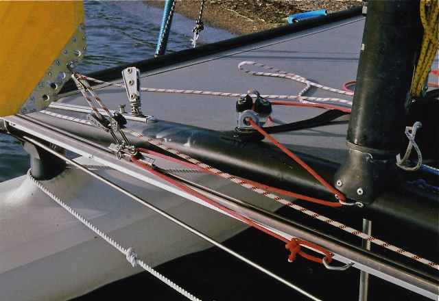 Hobie Forums • View topic - Made me a self tacking jib
